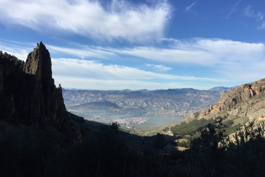 ruta de senderismo Cerro del Caballo en Huesa, aventura