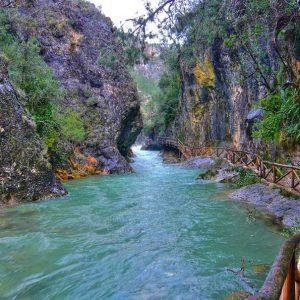 Cerrada de elias con el rio Borosa, Sierra de Cazorla
