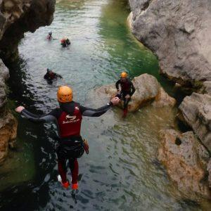 aventura en Hinojares, descenso de barrancos Cazorla
