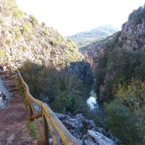 Cerrada del Utrero en Sierra de Cazorla, rio Guadalquivir, otoño sierra cazorla