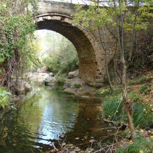 Puente de las Herrerias y rio Guadalquivir en Sierras de Cazorla