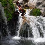 toboganes rio Guadalquivir en descenso de barrancos