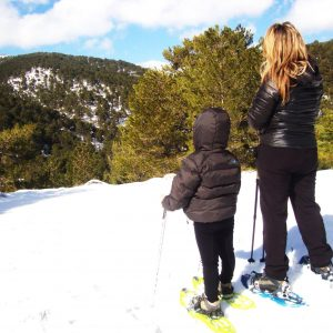 Raquetas de nieve, actividades en sierra de cazorla para vacaciones de navidad