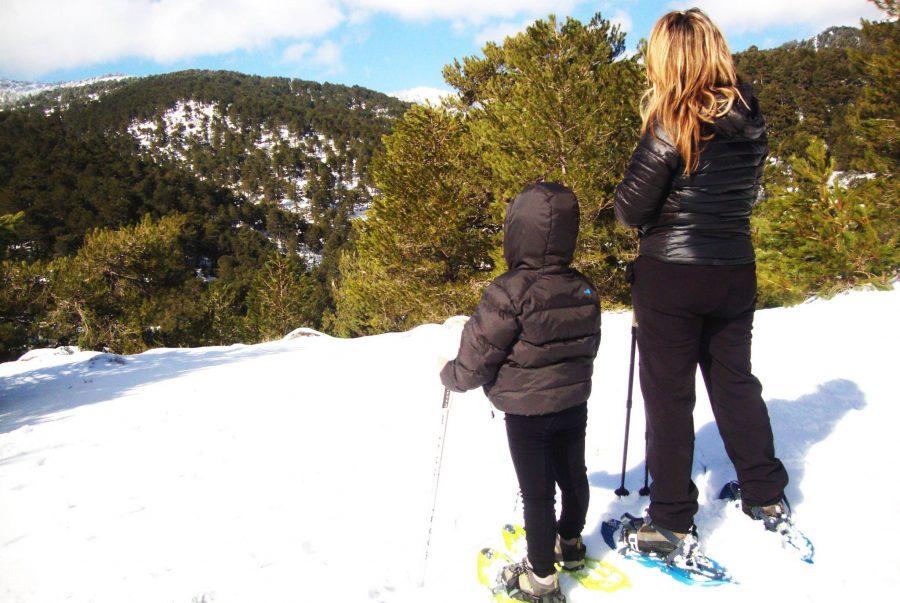 Raquetas de nieve, actividades en sierra de cazorla para el puente de la constitución