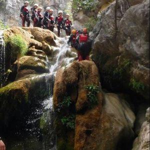 Descenso de barrancos en el rio Guadalquivir en Sierra de Cazorla