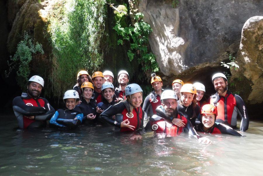 Iniciamos Descenso de barrancos rio Guadalquivir