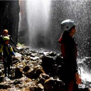 Descenso de Barrancos Guadalentin, cascada del rio guadalentin, sierras de cazorla