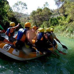 Actividades de aventura acuaticas. Rafting en Sierra de Cazorla