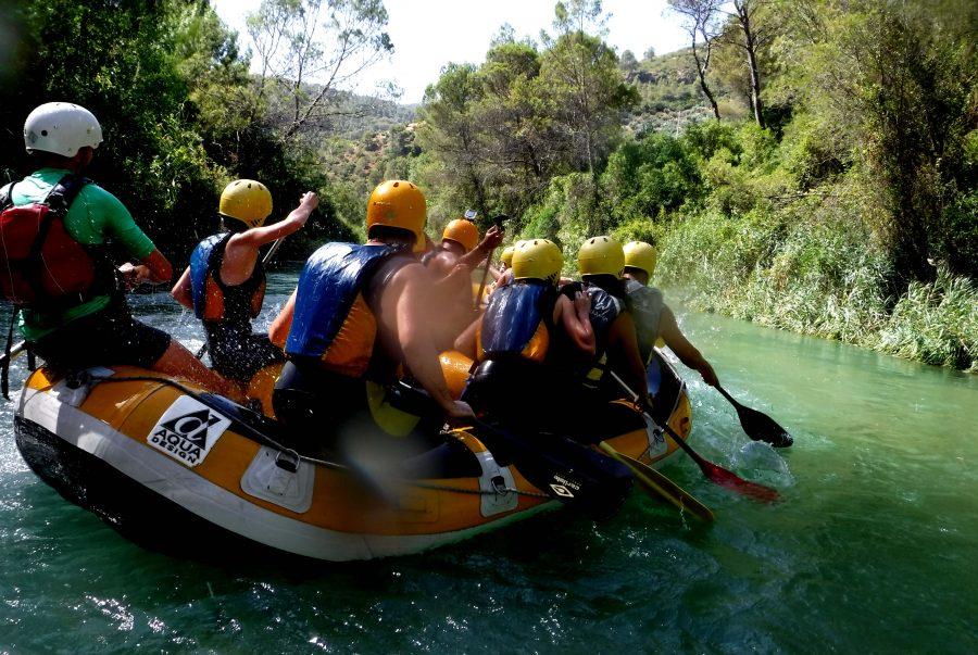 Actividades de aventura acuáticas. Rafting en Sierra de Cazorla