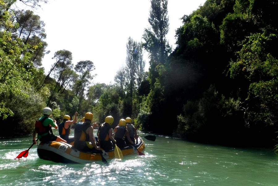 Rafting en sierra de cazorla, descenso del río Guadalquivir