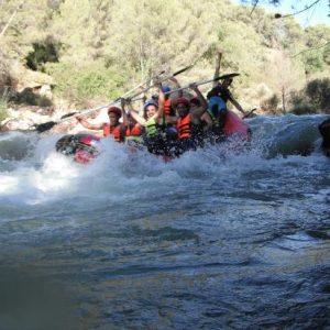 aventura en el agua, rafting en sierra de cazorla