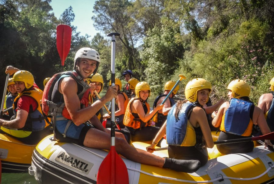 rafting en sierras de cazorla, río Guadiana