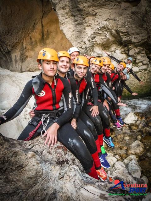 actividades de aventura en ibipozo, barranquismo rio Guadalentin