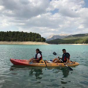 kayak en el camping de la bolera