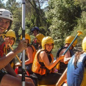 rafting en pozo alcón, en sierras de cazorla