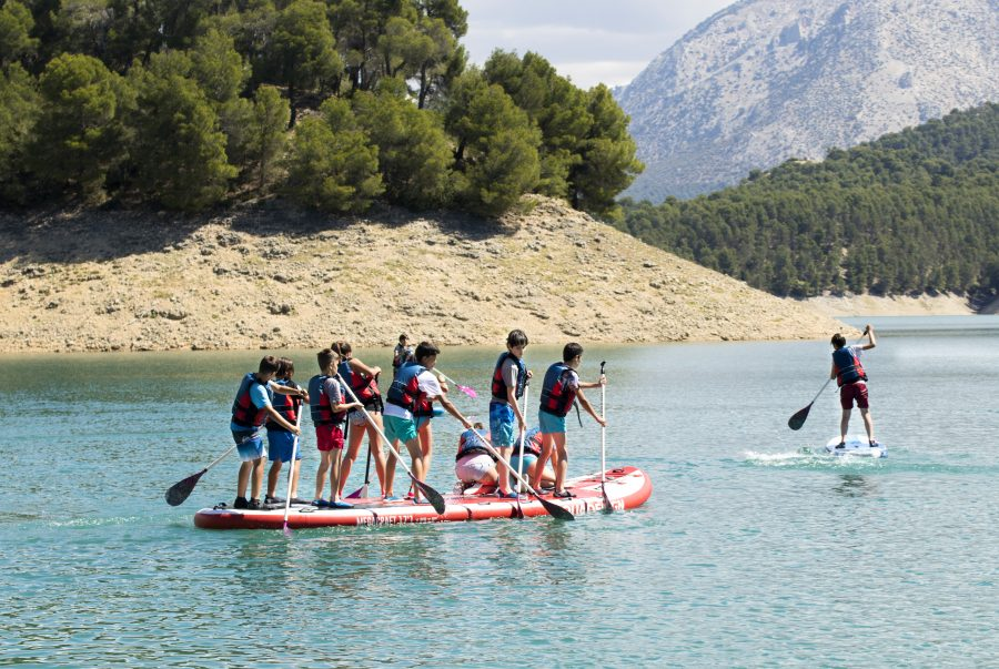 paddle surf para escolares en sierras de cazorla
