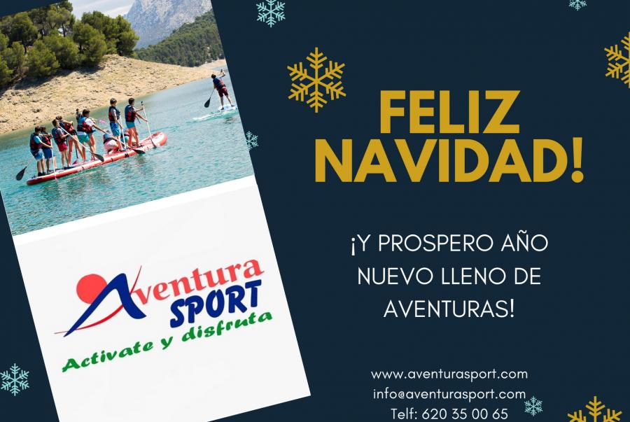 feliz navidad de aventura sport