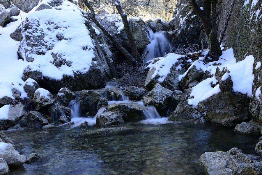 nieve en el nacimiento del río Guadalquivir