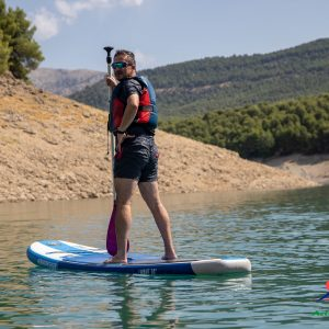 paddle surf en el embalse de la bolera, en Pozo Alcon