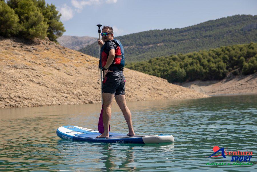actividades de aventura en santa maria de la sierra, paddle surf en sierras de cazorla