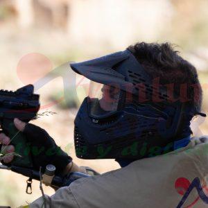 paintball en el camping de la bolera, actividades de aventura en entorno natural