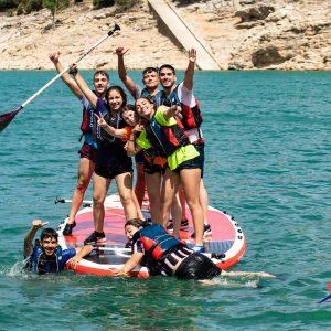 cumpleaños de aventura, paddle surf gigante en sierras de cazorla