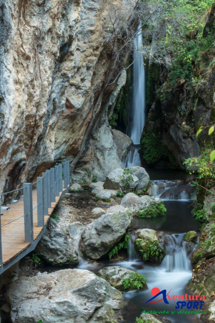 El Pilón Azul, entorno natural de Quesada, cascadas en Sierras de Cazorla