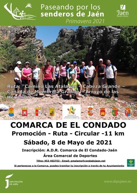 ruta de senderismo por la comarca del el condado en sierra morena
