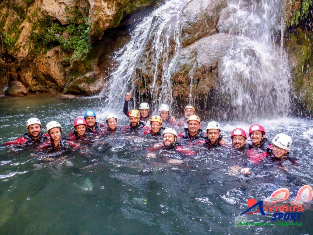 descenso de barrancos en sierras de cazorla, aventura por el rio guadalquivir