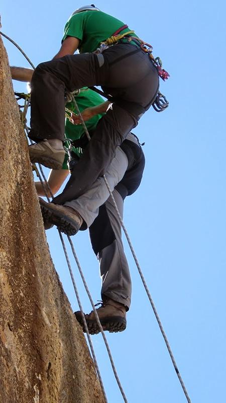 Autorescate en pared (escalada)