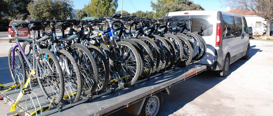 Bicicletas de montana para alquiler en Sierra de Cazorla